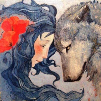 donna e lupo pandora